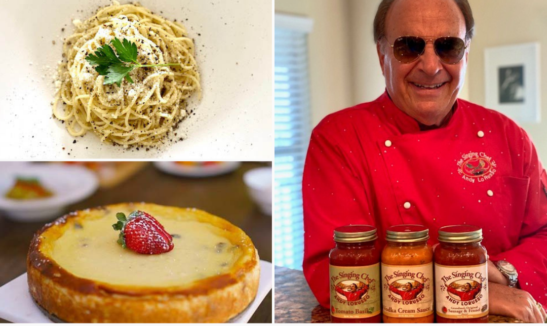 Chef Andy LoRusso's upcoming cooking-cabaret performance will include a demonstration for preparing Cacio E Pepe and Sicilian Ricotta Cheesecake.